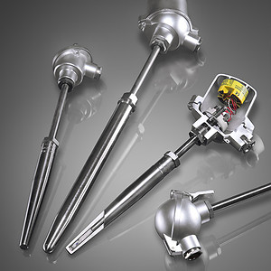 Thermocouples with a weld-in thermowell type D